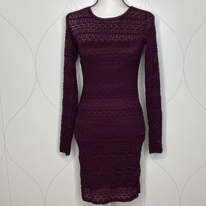 NWT Forever 21 long sleeve lace dress purple M